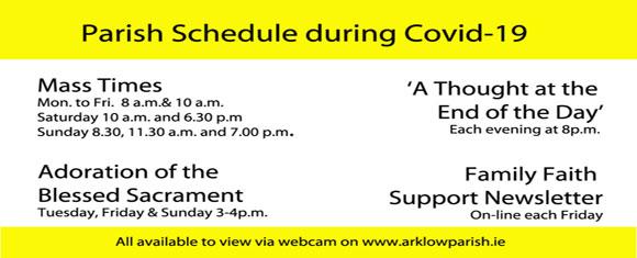 Parish Schedule during Covid – 19